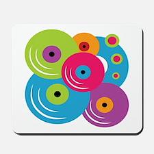 Neon Vinyl Records Mousepad