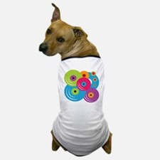 Neon Vinyl Records Dog T-Shirt