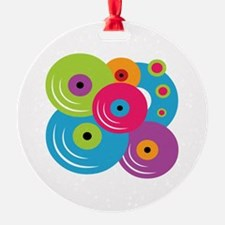 Neon Vinyl Records Ornament