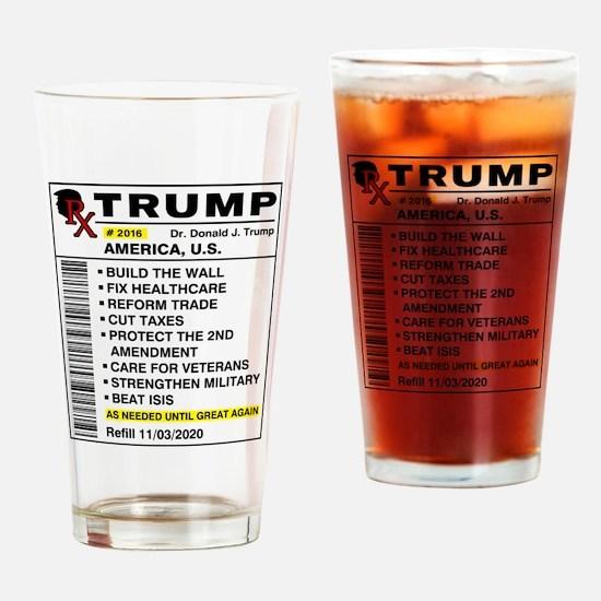 Trump Prescription For America Drinking Glass
