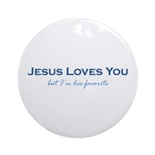 Jesus Loves You Ornament (Round)