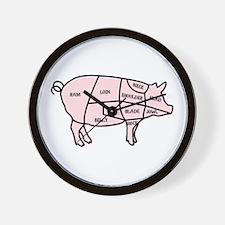 Pork Cuts Wall Clock