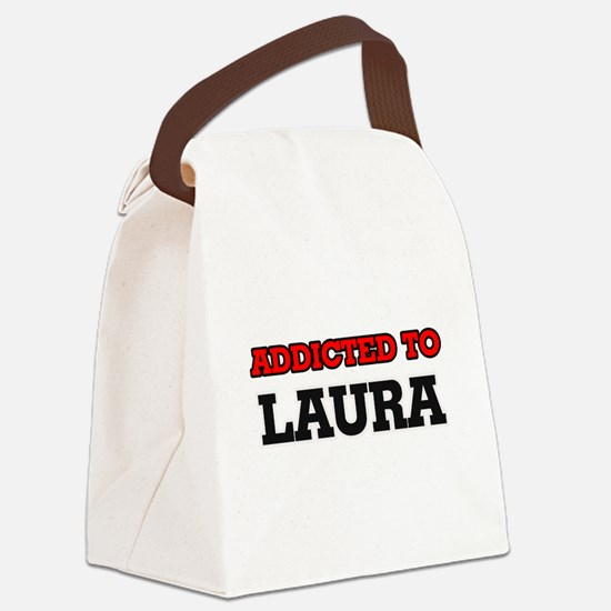 Addicted to Laura Canvas Lunch Bag
