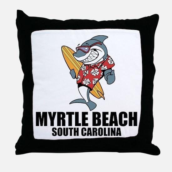 Myrtle Beach, South Carolina Throw Pillow