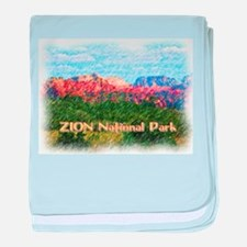 Zion National Park, Utah baby blanket