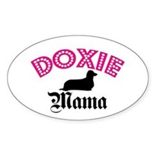 L. Doxie Mama Oval Decal