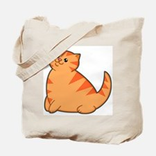 Happy Fat Orange Cat Tote Bag