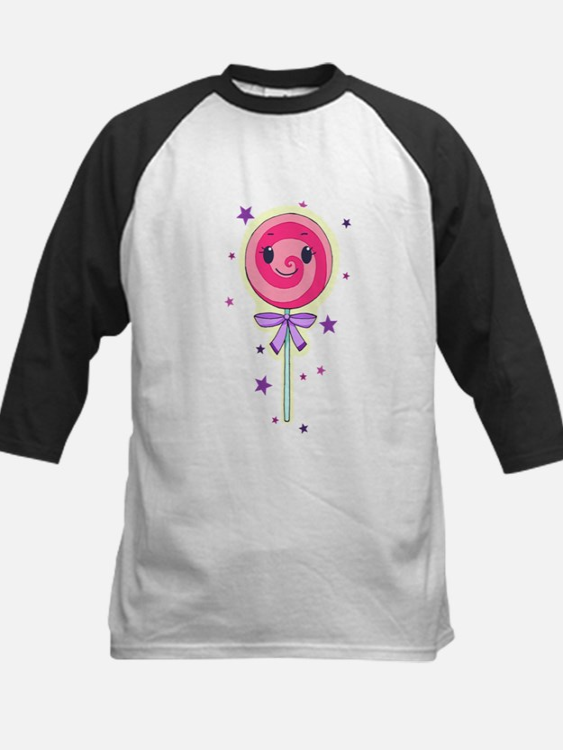 Cute pink lollipop Baseball Jersey