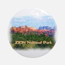 Zion National Park, Utah Round Ornament