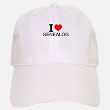 I Love Genealogy Baseball Baseball Baseball Cap