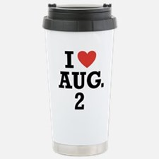 Funny August Thermos Mug