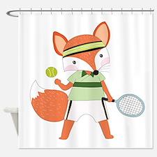 Red Fox Tennis Shower Curtain