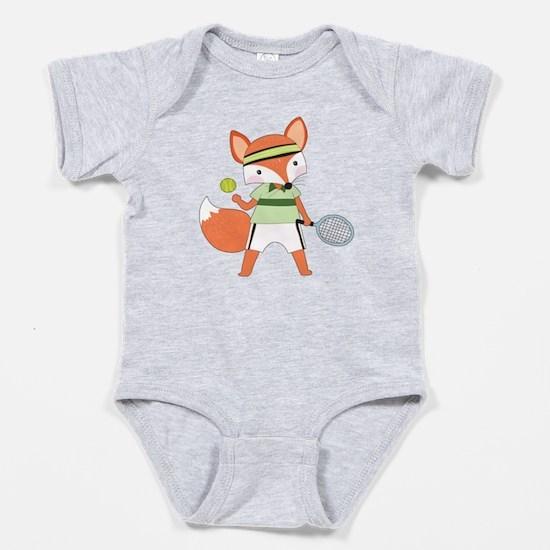 Red Fox Tennis Baby Bodysuit