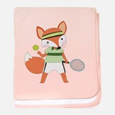 Red Fox Tennis baby blanket
