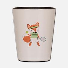 Red Fox Tennis Shot Glass