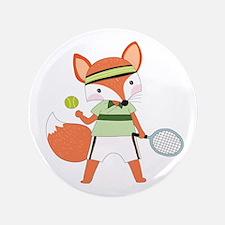 Red Fox Tennis Star Button