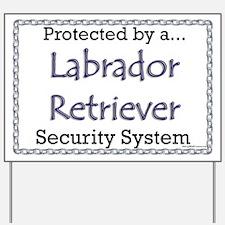 Lab Security Yard Sign