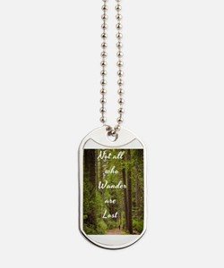 Cute Not all who wander lost Dog Tags