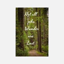 Cool Not all who wander lost Rectangle Magnet