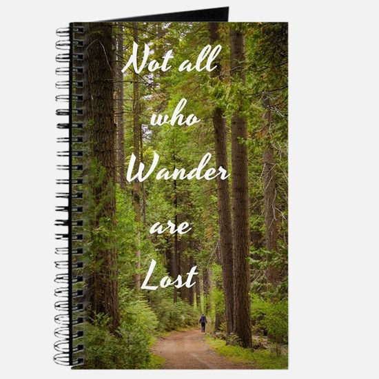 Cute Not all who wander lost Journal