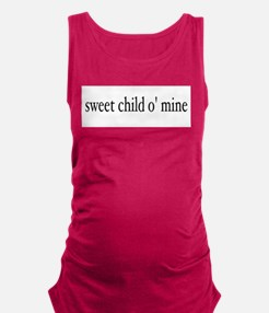 Cute Rock roll Maternity Tank Top