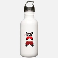 Boxing Panda Bear Water Bottle