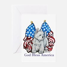 God Bless Westies Greeting Cards