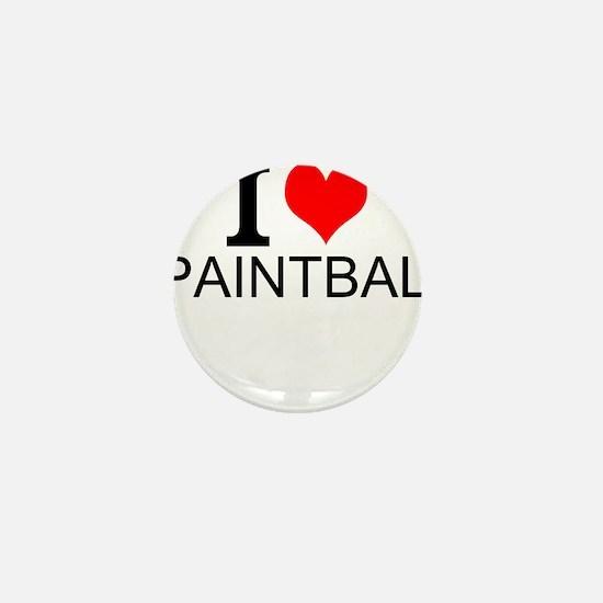 I Love Paintball Mini Button