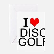 I Love Disc Golf Greeting Cards