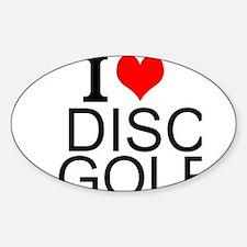 I Love Disc Golf Decal
