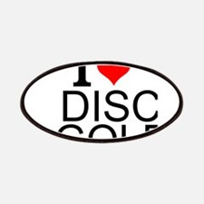 I Love Disc Golf Patch