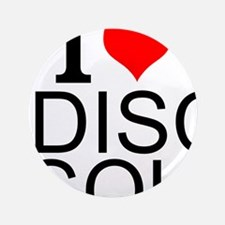 I Love Disc Golf Button