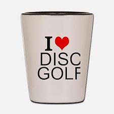 I Love Disc Golf Shot Glass