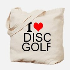 I Love Disc Golf Tote Bag