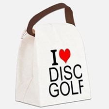 I Love Disc Golf Canvas Lunch Bag