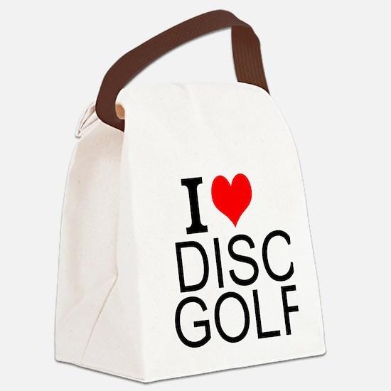 I Love Disc Golf Canvas Lunch Bag