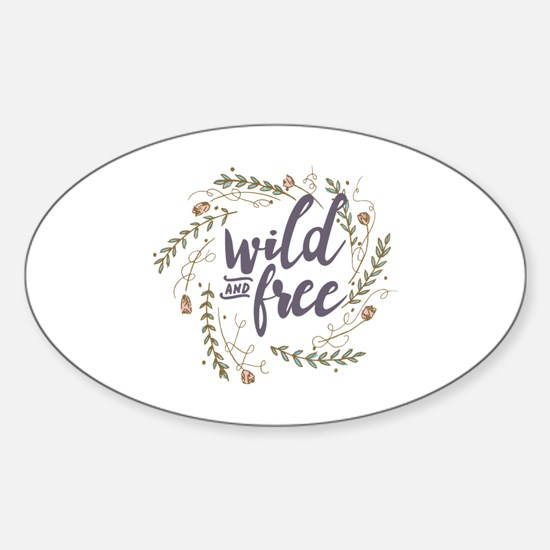 Funny Nature Sticker (Oval)