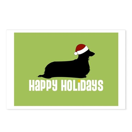 "L. Doxie ""Santa Hat"" Postcards (Package of 8)"