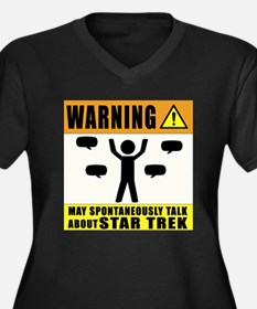 Warning may spontaneously talk about star trek Plu