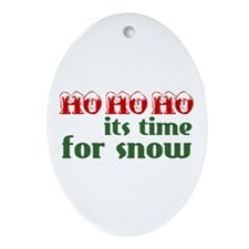Ho Ho Ho Snow Oval Ornament