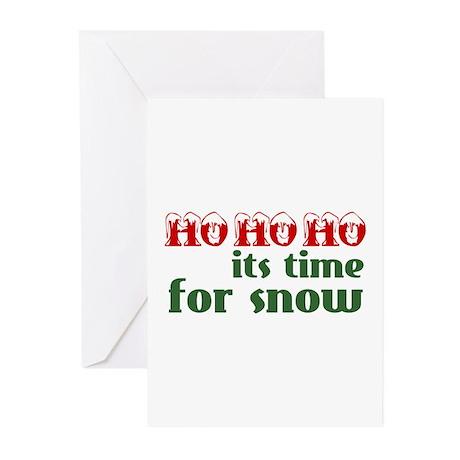 Ho Ho Ho Snow Greeting Cards (Pk of 10)