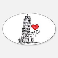 I love Pisa Decal