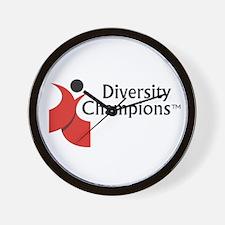 Diversity Champions Wall Clock