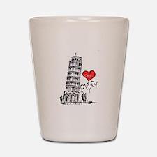 I love Pisa Shot Glass