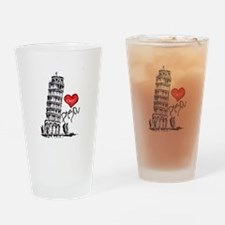 I love Pisa Drinking Glass