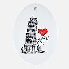 I love Pisa Oval Ornament