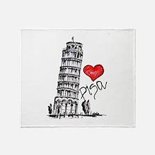 I love Pisa Throw Blanket