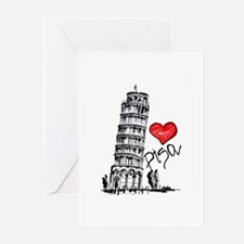 I love Pisa Greeting Cards