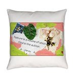 Nature Quote Collage Everyday Pillow