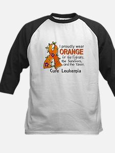 Orange For Fighters Survivors Kids Baseball Jersey